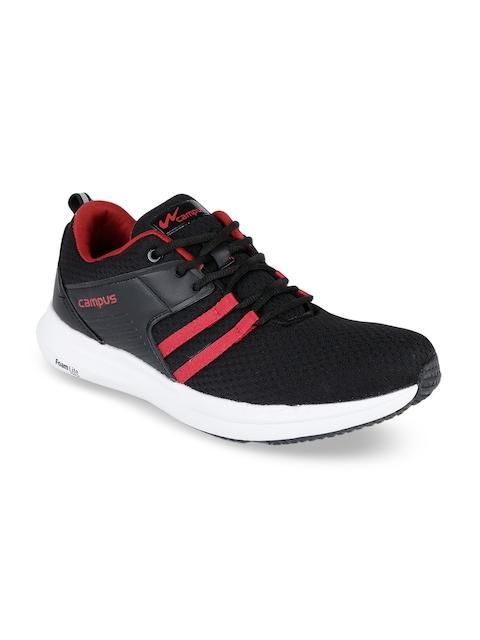 Campus Men Black & Red Mesh Running Shoes
