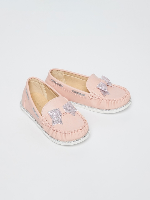 Fame Forever by Lifestyle Girls Pink Embellished Loafers