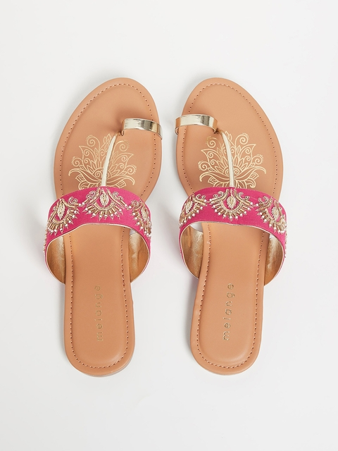 Melange by Lifestyle Women Pink Sandals