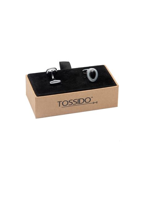 Tossido Grey Oval Cufflinks
