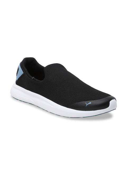 Puma Men Black Mesh Walking Shoes