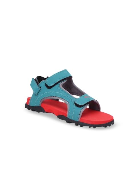 Puma Kids Red & Blue Bambi PS IDP Sports Sandals