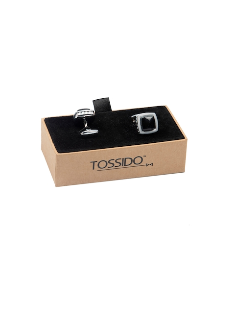 Tossido Black Square Cufflinks