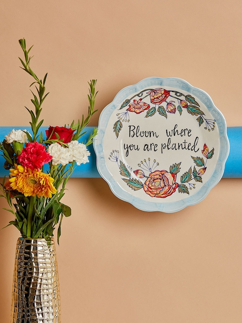 The Wishing Chair White & Blue Printed Wall Plate