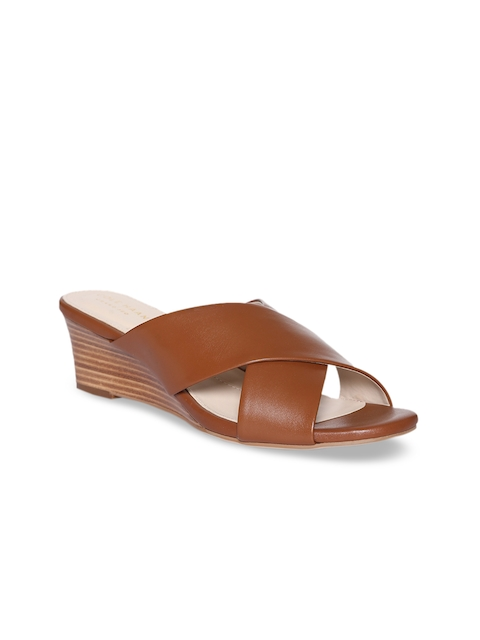 Cole Haan Women Brown Solid Leather Heels