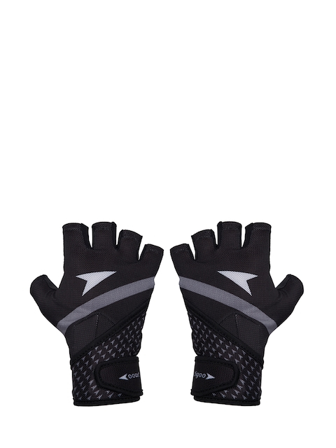 Sportigoo Unisex Black Solid Gym Gloves