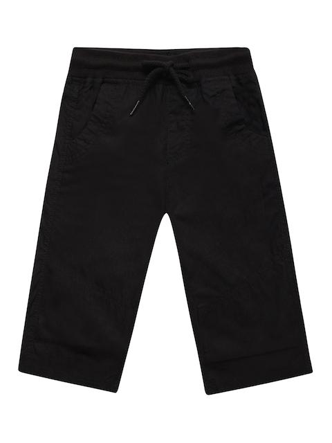 Fame Forever by Lifestyle Boys Black Solid Regular Fit Regular Shorts