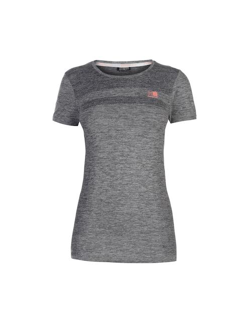 Karrimor Women Grey Solid Round Neck T-shirt