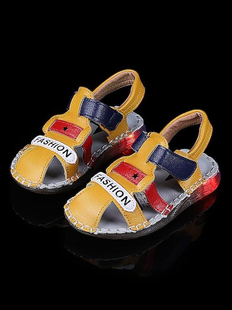 Walktrendy Kids Mustard Yellow LED Lights Sandals