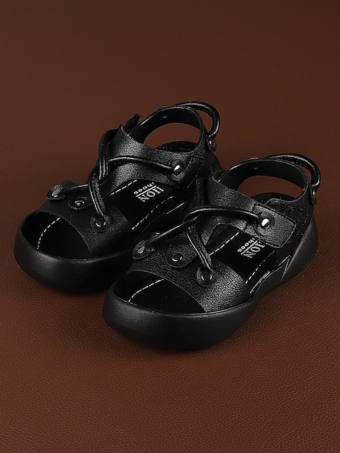 Walktrendy Unisex Black Sandals