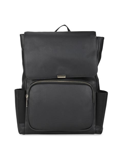 Van Heusen Woman Women Black Textured Backpack