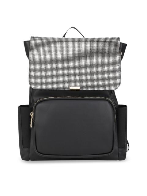 Van Heusen Woman Women Black & Grey Colourblocked Backpack