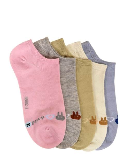 MARC Women Pack of 5 Ankle Length Solid Socks