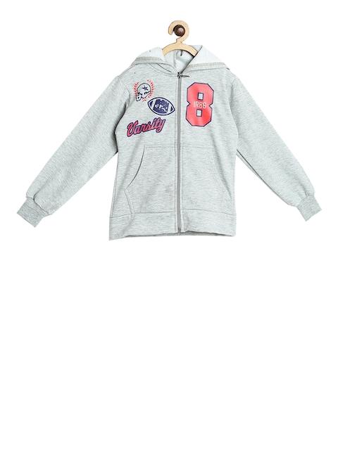 SWEET ANGEL Unisex Grey Printed Hooded Sweatshirt