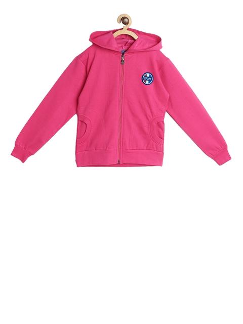SWEET ANGEL Unisex Pink Solid Hooded Sweatshirt