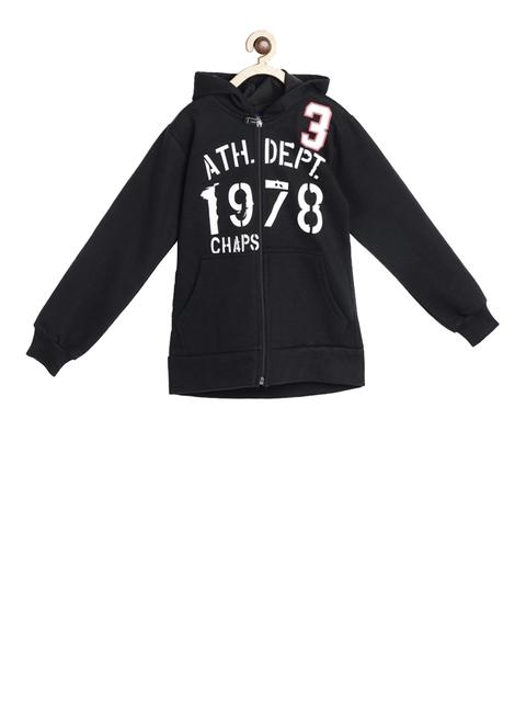 SWEET ANGEL Unisex Black Printed Hooded Sweatshirt