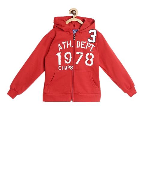SWEET ANGEL Unisex Red Printed Hooded Sweatshirt