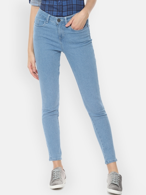 Van Heusen Woman Women Blue Skinny Fit Mid-Rise Clean Look Stretchable Jeans