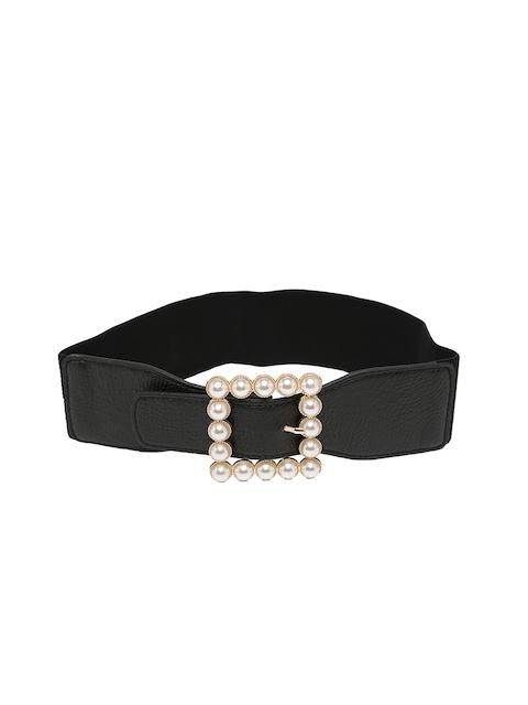 Mali Fionna Women Black Solid Cinched Waist Belt