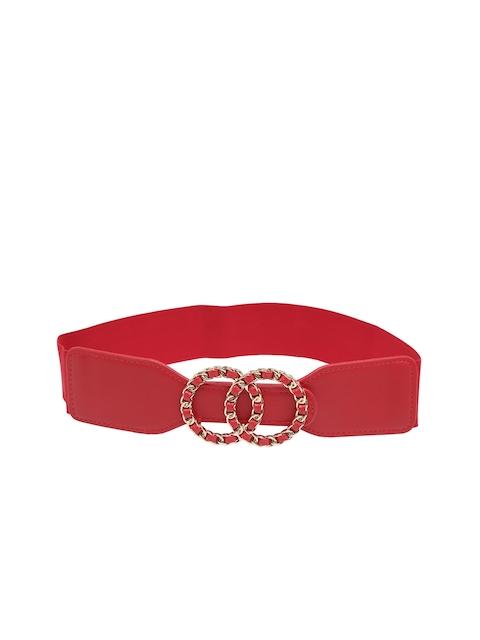 Mali Fionna Women Red Solid Cinched Waist Belt