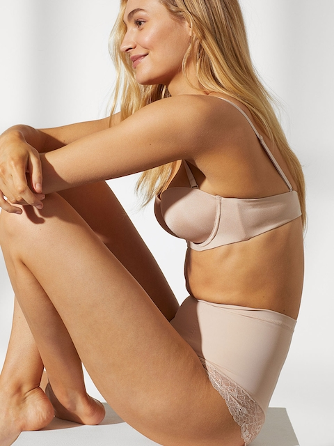 H&M Women Beige Firm Shaping Briefs High Waist