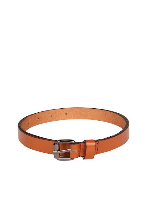 Aditi Wasan Women Tan Brown Solid Genuine Leather Belt