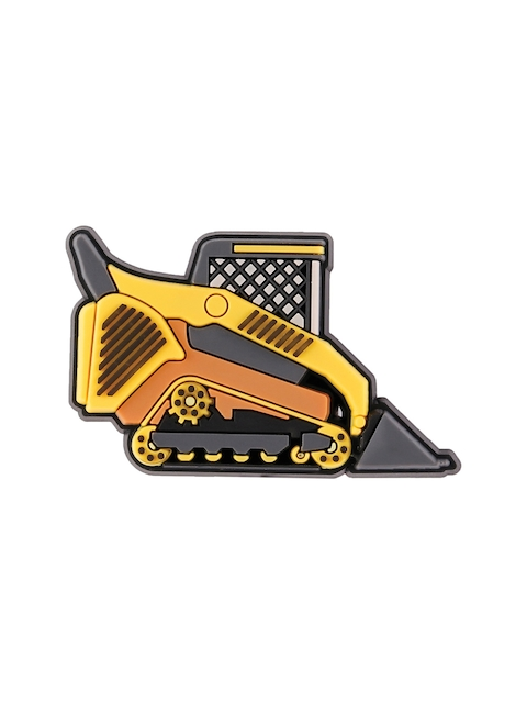 Crocs Unisex Yellow & Grey Bulldozer Truck Jibbitz Shoe Charm