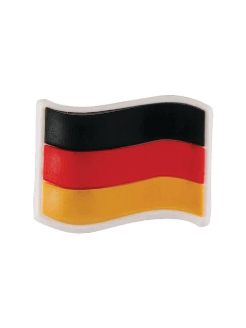 Crocs Unisex Black & Red Germany Flag Card Shoe Charm