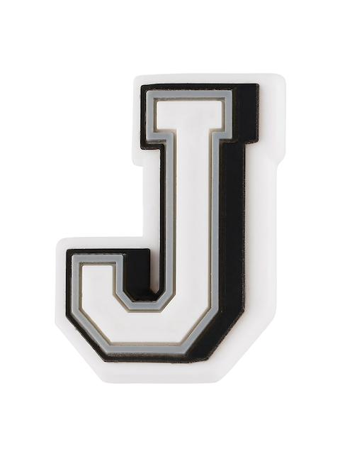 Crocs Unisex White & Black Letter J Jibbitz Shoe Charm