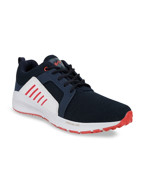 Campus Men Blue & Whits Mesh Running Shoes