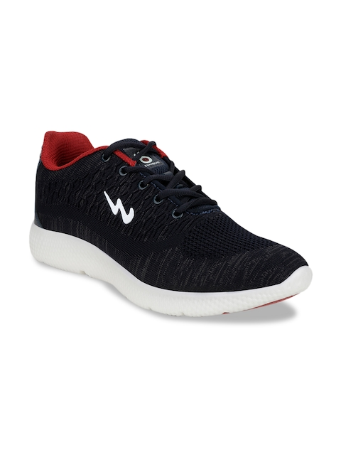 Campus Men Navy Blue Mesh Running Shoes