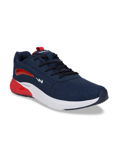 Campus Men Blue & Red Mesh Running Shoes