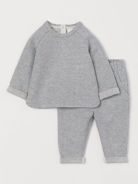H&M Kids Grey 2-Piece Cotton Set