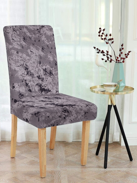 Cortina Grey Solid Chair Cover