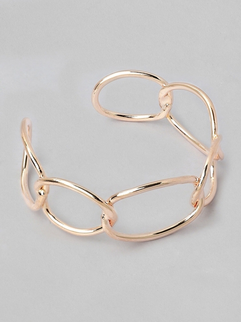 TOKYO TALKIES X rubans FASHION ACCESSORIES Gold-Plated Rose Gold-Toned Cuff Bracelet