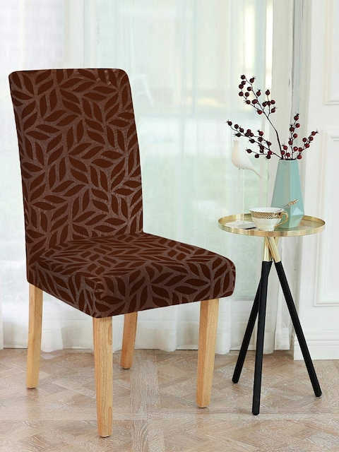 Cortina Set Of 6 Brown Printed Chair Covers