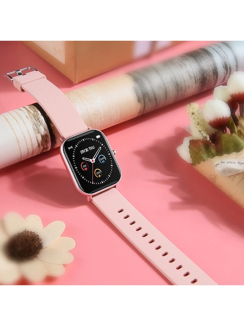 OPTA Unisex Pink & Black SB-215 Bluetooth Fitness Watch SB-215