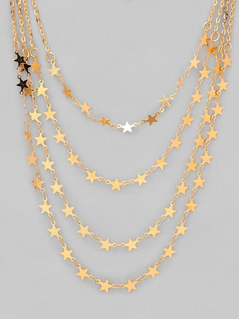 Tokyo Talkies Gold-Plated Handcrafted Layered Chain