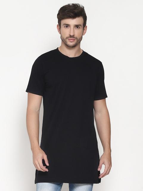PAUSE SPORT Men Black NA Raw Edge Slim Fit T-shirt NA