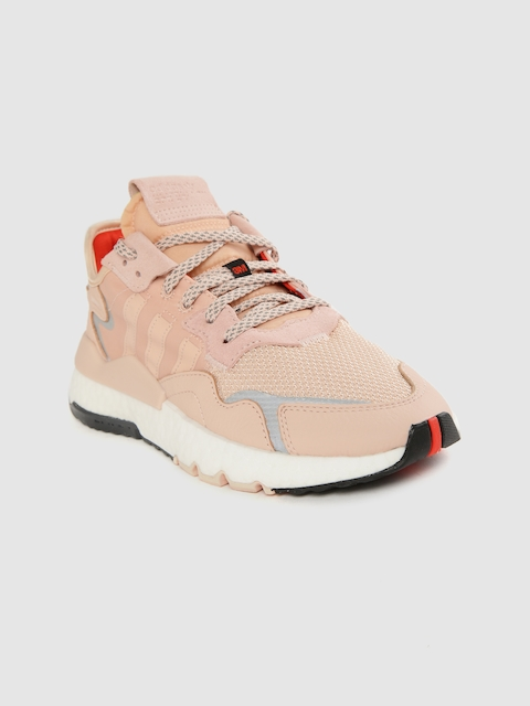 ADIDAS Originals Women Peach-Coloured Solid Nite Jogger Sneakers