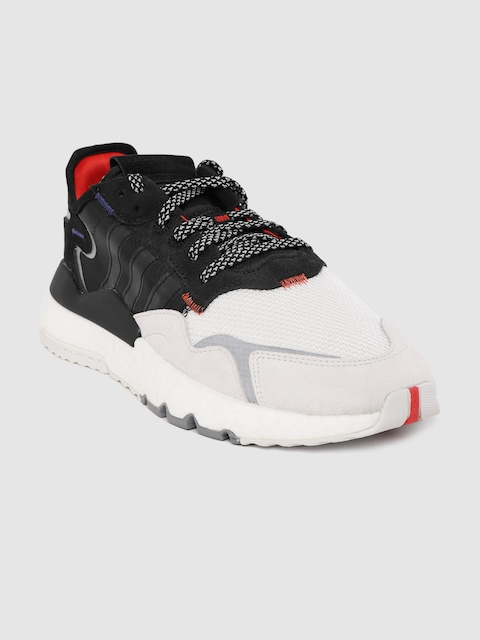 ADIDAS Originals Men Black & White Nite Jogger Colourblocked Sneakers