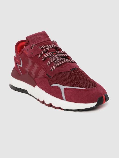 ADIDAS Originals Men Burgundy Nite Jogger Sneakers