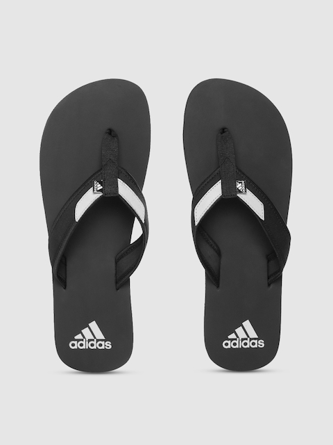 ADIDAS Men Black Solid Thong Flip-Flops