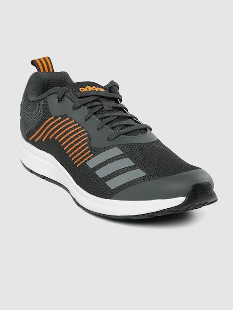 ADIDAS Men Grey Solid Puaro Running Shoes
