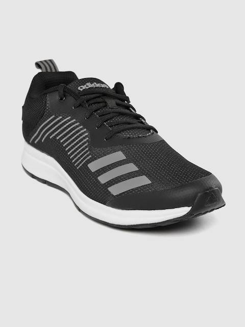 ADIDAS Men Black Solid Puaro Running Shoes