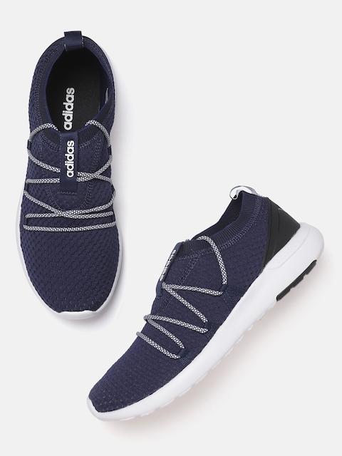 ADIDAS Men Navy Blue Woven Design Rey M Running Shoes