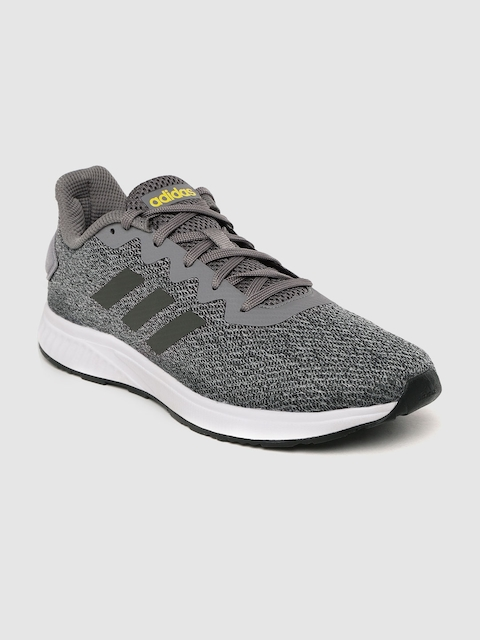 ADIDAS Men Charcoal Grey Solid Sedna Running Shoes