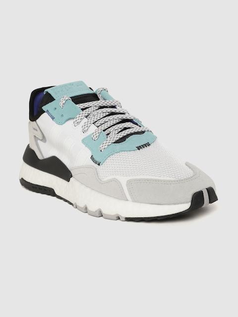 ADIDAS Originals Men White & Grey Nite Jogger Sneakers