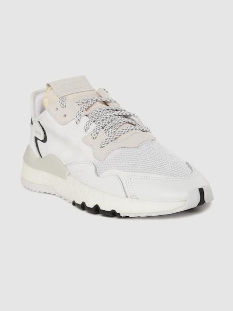 ADIDAS Originals Men White & Peach-Coluored Nite Jogger Sneakers