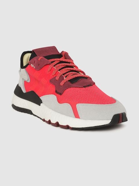ADIDAS Originals Men Coral Pink & Grey Nite Jogger Sneakers